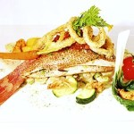 Delicious red fish as a succulent main course. Photographer: Courtesy Battimamzelle restaurant