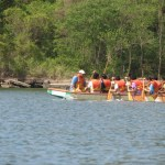 Dragon boat racers often practise and compete in Chaguaramas. Photographer: Aisha Provoteaux