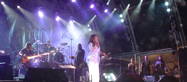Galdys Knight performs at the Tobago Jazz Experience. Photo courtesy the Trinidad & Tobago Business Guide