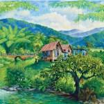 A piece of art by Trinidadian artist Peter Sheppard