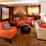 The library. Courtesy Courtyard by Marriott