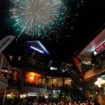 Fireworks at Fiesta Plaza, MovieTowne. Photo courtesy MovieTowne