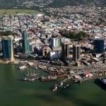 An aerial view of Port of Spain, Trinidad. Photo by Stephen Broadbridge