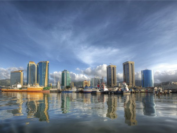The Port of Spain waterfront. Photo by Chris Anderson