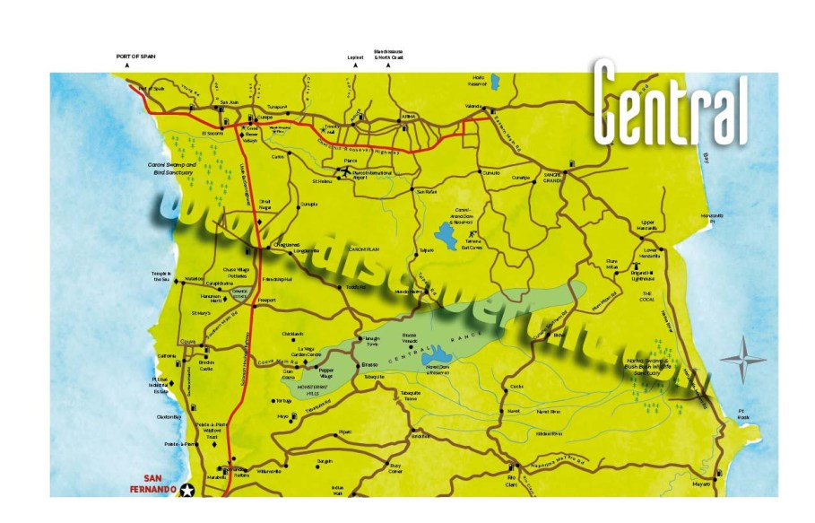 Central Trinidad Map. Copyright MEP Publishers 2017