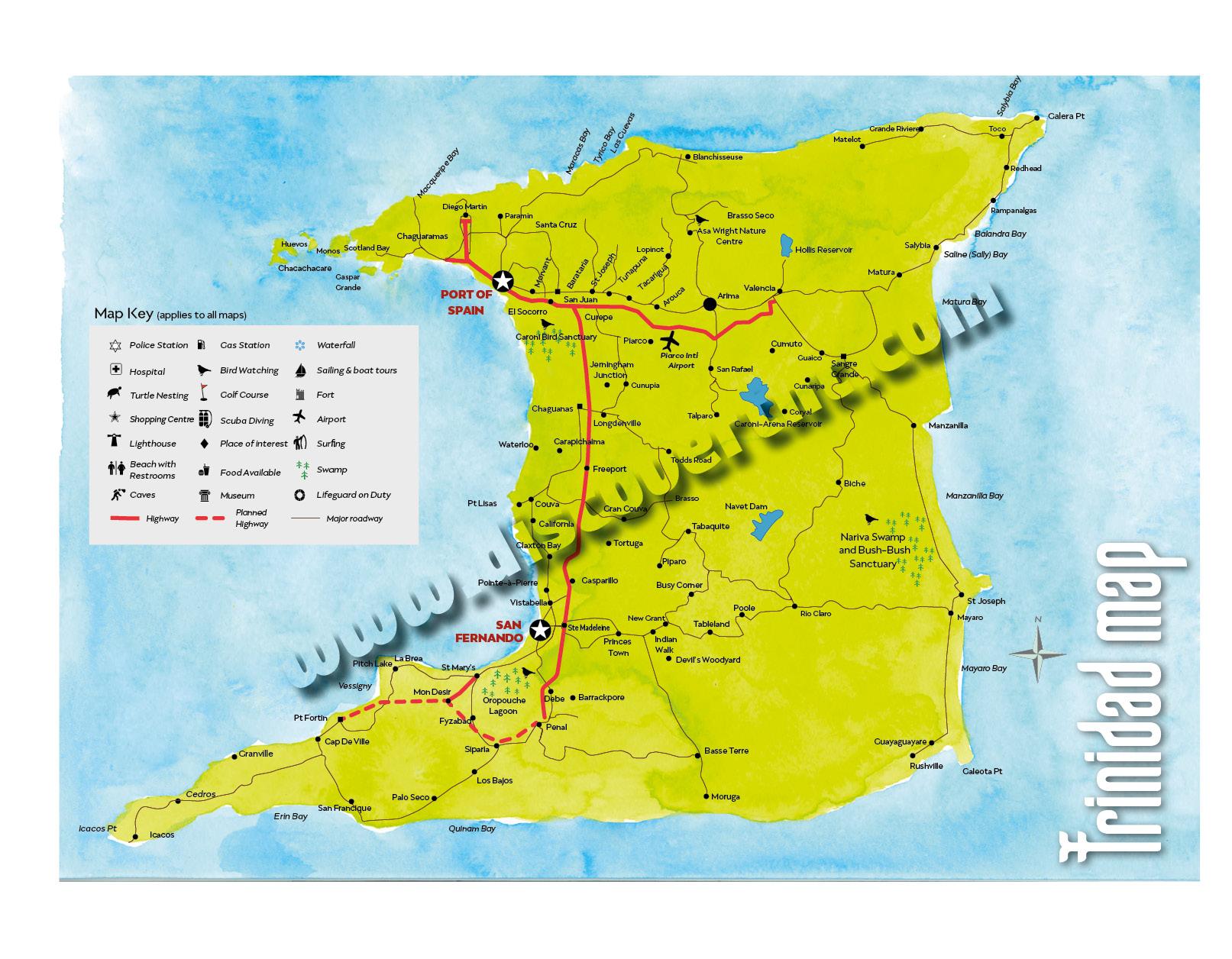 Trinidad Map Copyright MEP Publishers Discover Trinidad - Trinidad map