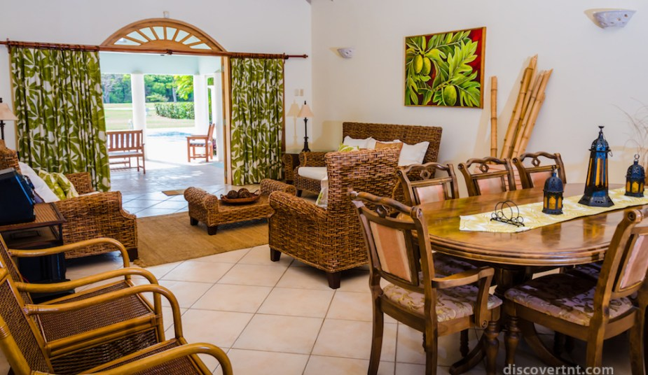 Villa Serenity living room. Courtesy Island Investments
