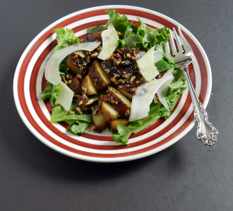Salad with Pan Roasted Pears