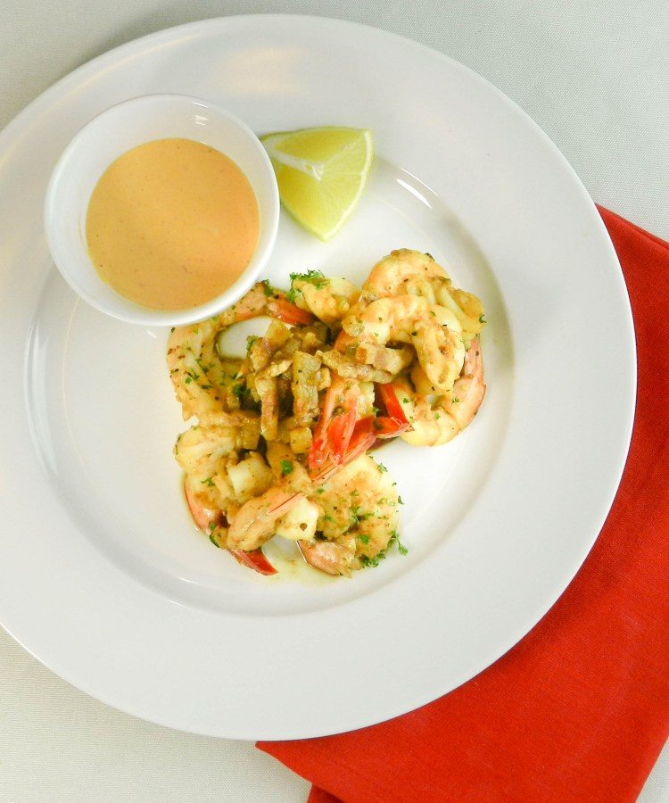 Shrimp with Sriracha Lime Dip