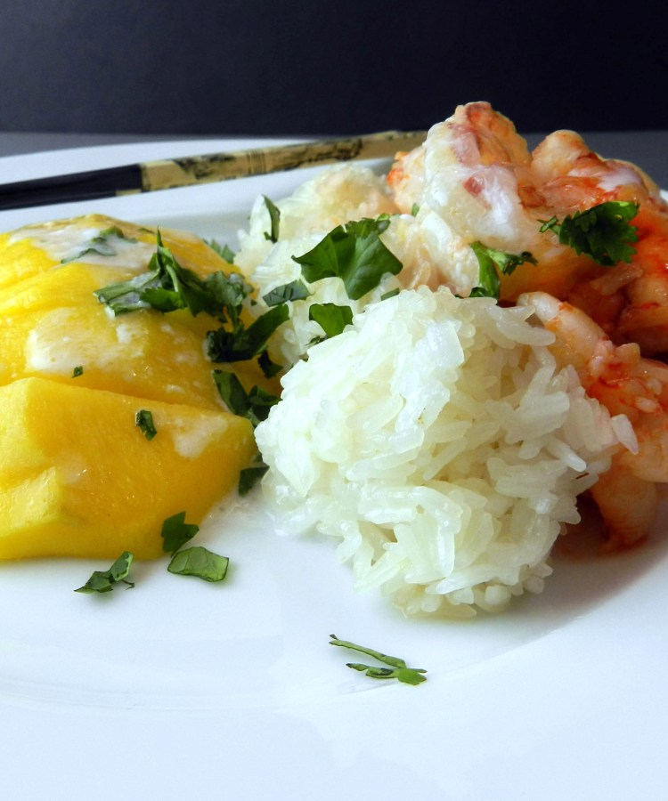 Shrimp with Mango Sticky Rice