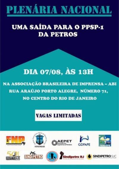 FNP fará transmissão ao vivo da PLENÁRIA NACIONAL - Uma saída para o PPSP-1 da Petros