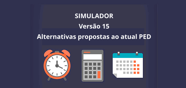 Versão 15 – Simulador das alternativas propostas ao atual PED.  Nova função de parametrização de alternativas.