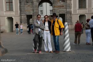 Heiko Bleher,s Natashou a Francescem v Praze