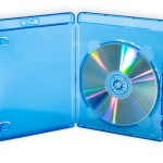 Blu-ray HD video case. Transparent blue with 15mm spine.