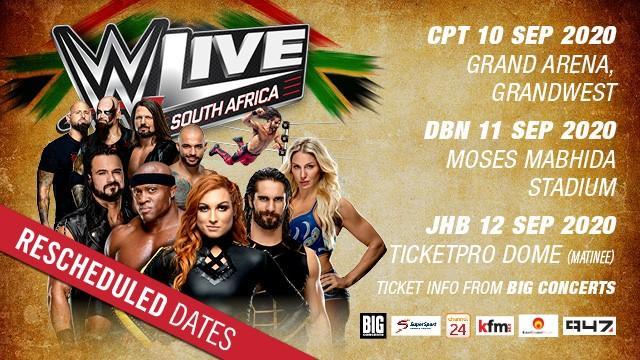 WWE South Africa Tour Rescheduled