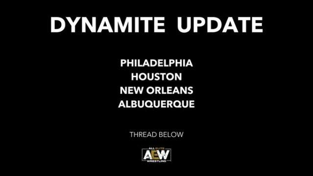 AEW Dynamite Events Rescheduled