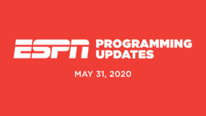 ESPN Programming Schedule   Sunday May 31
