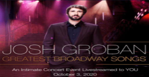 "Josh Groban ""Greatest Broadway Songs"" 