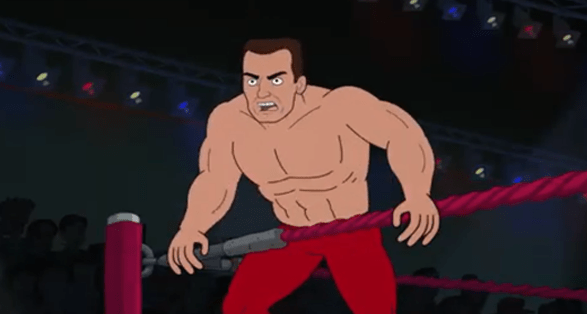 Corner Gas Animated TV Show with Pro Wrestlers