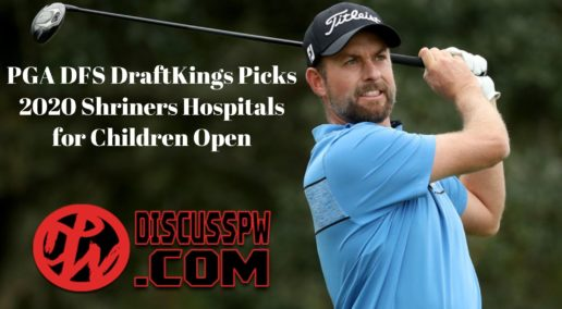 PGA DFS DraftKings Picks | 2020 Shriners Hospitals for Children Open