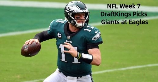 NFL Week 7 Thursday DFS DraftKings Showdown Picks | Giants at Eagles