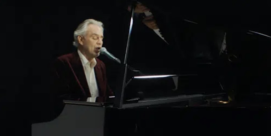 """Andrea Bocelli performs """"Silent Night"""" on Late Show w/ Colbert"""