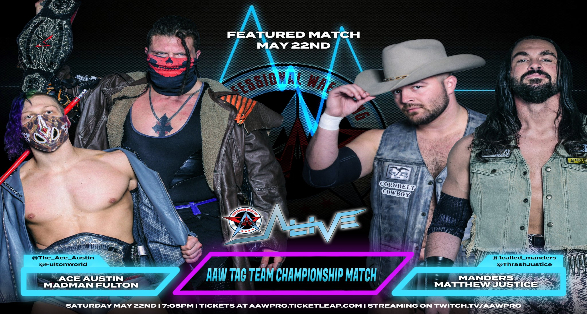 """Updated Matches for AAW Pro's """"Alive"""" May 22 Tapings"""
