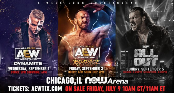"""AEW adds """"Dynamite"""" & """"Rampage"""" Events to """"All Out"""" Week"""