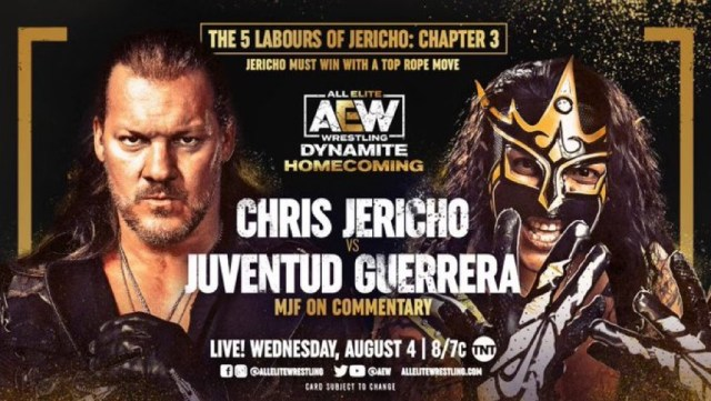 """Jericho vs Juventud set for AEW Dynamite """"Homecoming"""""""
