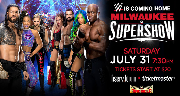 WWE Milwaukee Wisconsin Supershow Quick Results from July 31 2021