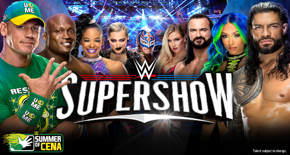WWE Detroit Michigan Supershow Quick Results from August 1 2021