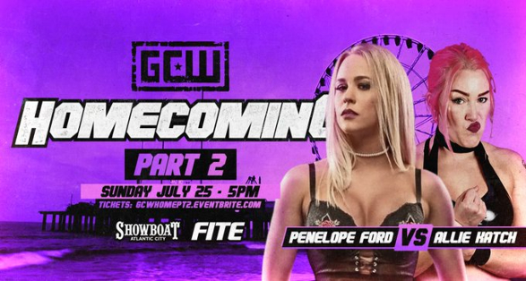 Updated Cards for GCW Homecoming Weekend