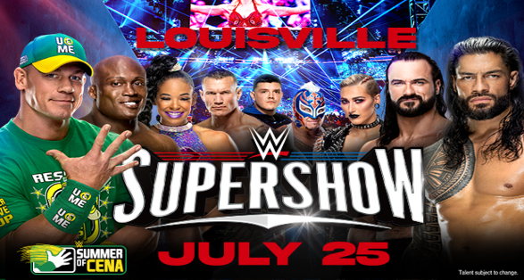 WWE Louisville Supershow Quick Results from July 25 2021