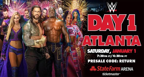"""WWE """"Day 1"""" in Atlanta Georgia on January 1 2022"""
