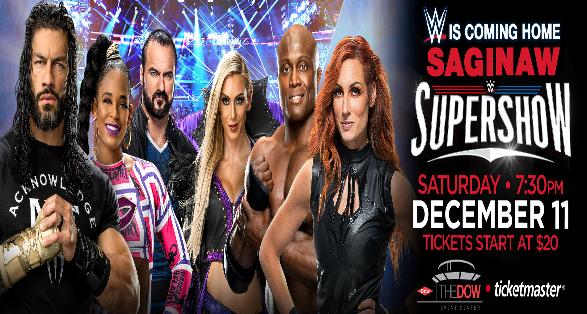 WWE Supershow in Saginaw Michigan on December 11 2021