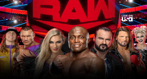 WWE Monday Night Raw in Long Island New York on November 29 2021
