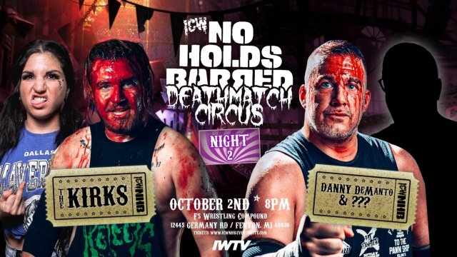 """Updated Cards for ICW: No Holds Barred: """"Deathmatch Circus"""""""