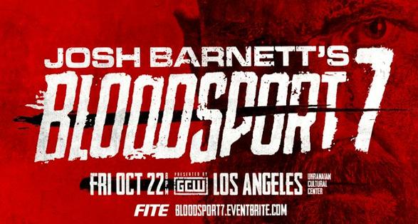"""GCW """"Josh Barnett's Bloodsport 7″ in Los Angeles on October 22"""