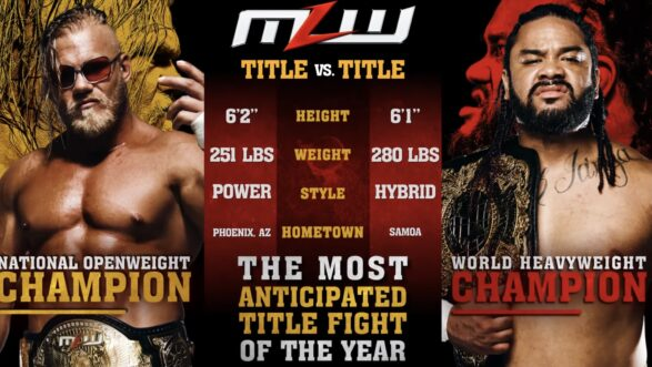 Hammerstone vs Fatu MLW Title vs Title Match Now Available
