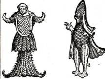 Il pesce monaco e il pesce vescovo sono chiaramente frutto esclusivo della fantasia medievale.