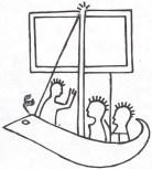 """Fg 8: scena di """"estremo viaggio"""" incisa su una stele dauna del  VI - V sec. a.C. (dis. Gianni Bassi)"""