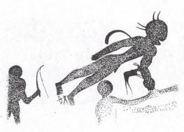 Fg 3: pittura rupestre di età neolitica rinvenuta nel Tassili (Dis, Gianni Bassi)