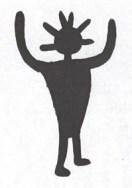 Fg 4: Sciamano? Incisione rupestre della Val Camonica (dis, Gianni Bassi)