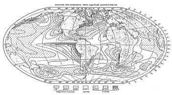 Mappa delle anomalie termiche superficiali degli oceani (da F. Vercelli: Il mare, i laghi, i ghiacciai)