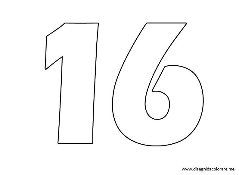 Para Imprimir Numero 16