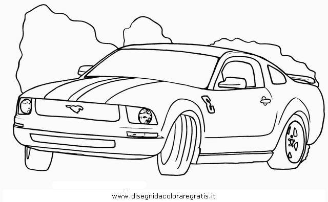 Disegno Fordmustang4 Categoria Mezzitrasporto Da Colorare