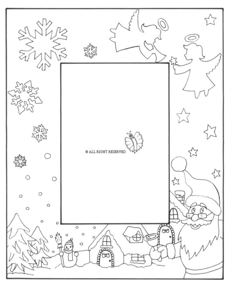 Trova e scarica risorse grafiche gratuite per natale. Disegno Di Cornice Di Natale Verticale Da Colorare Per Bambini Disegnidacolorareonline Com