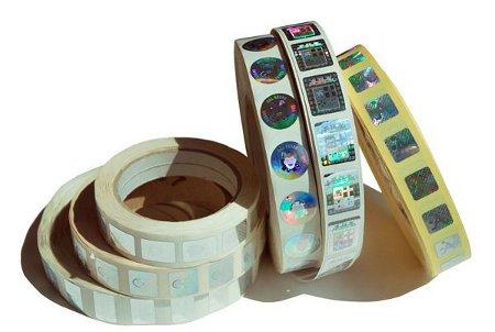 Questa foto mostra un esempio di Etichette Oleografiche Anti Contraffazione