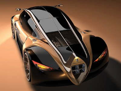 Peugeot 4002 concept car designed by Stefan Schulze for Peugeot 2003