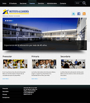 Sitio Web Instituto Alejandría